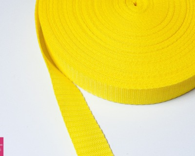 Gurtband Stern 1m 30mm - Gelb