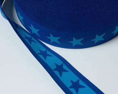 Gummiband Stern 1m 40mm Dunkelblau Blau