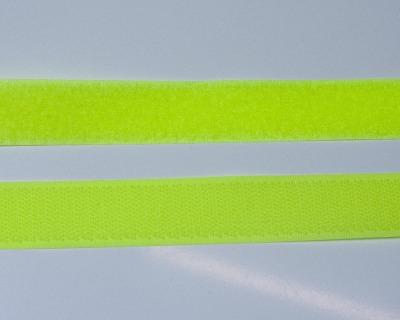 Klettband 1m 25mm Neon Gelb Klettverschluss