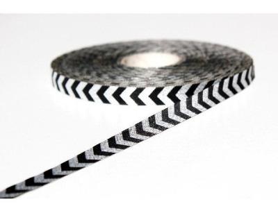Webband chevron schwarz-silber
