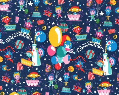 COSMIC PARTY Jersey dunkelblau by Johanna