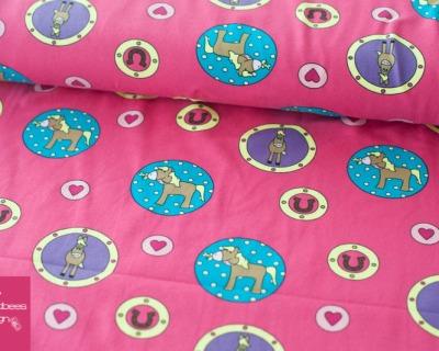 Baumwolljersey Pony-Love pink