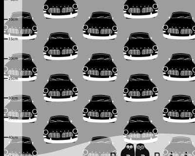 Vintage Cars Gray Paapii Design