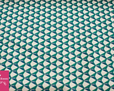FRAGMENTAL Hexagon blau-grün by Robert Kaufman