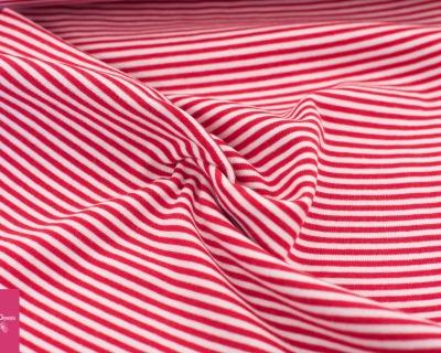 BÜNDCHEN geringelt rot-weiß