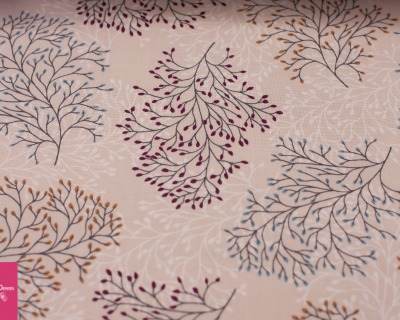 BRANCHES beige-rot by Copenhagen Prints