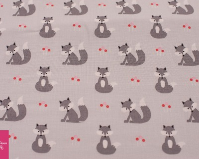 Foxes grau Copenhagen Prints