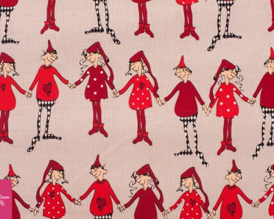 Christmas Dancing beige by Copenhagen Prints