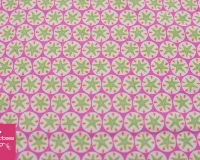 Seestern rosa-hellgrün BW Jersey von hilco