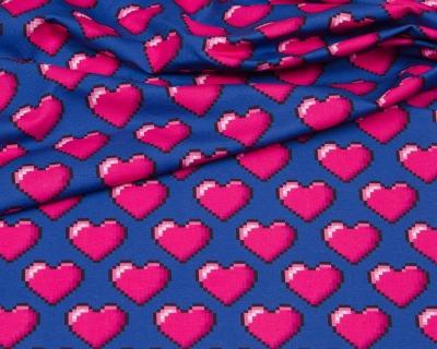 HHL 72ppi hearts Jersey pink-dunkelblau