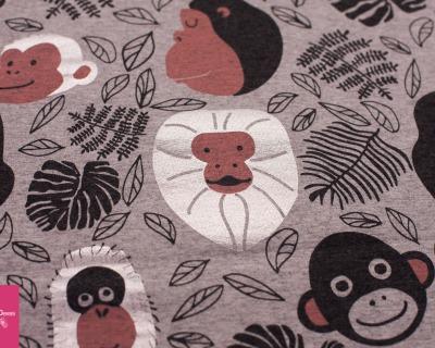 Monkey grau/meliert - silber JERSEY