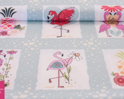 FLAMINGO FEVER flamingo light blue