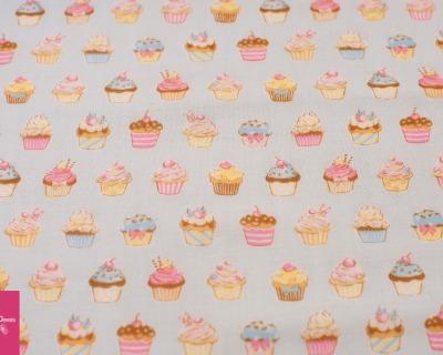 Cupcakes hellblau Double Gauze