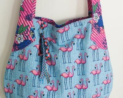 Schultertasche-Beutelatsche Aloha Flamingo