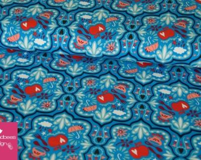 Hamburger Liebe Jersey Funny Rain Hellblau-rot