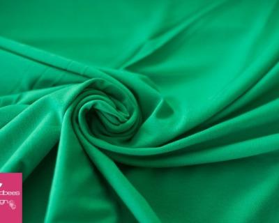 Baumwoll-Jersey UNI dunkelgrün