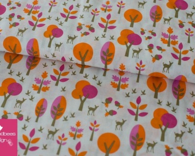 Bambi Forest orange-pink by Copenhagen Print