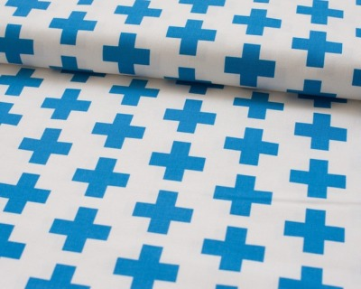 GEO POP CANVAS blue Kreuz