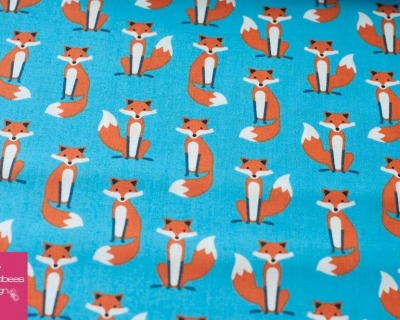 Fabulous Foxes mini blau by RKaufman