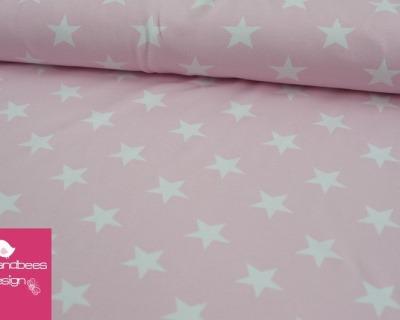 VICENTE Sterne hellrosa Jersey Öko-Tex-Standard