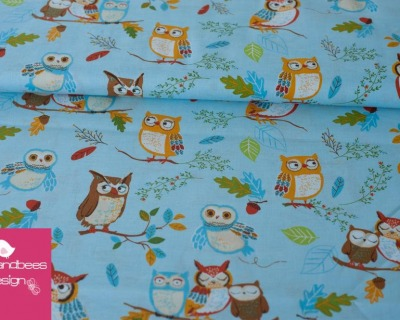 Forest Fellows Owls hellblau by Robert