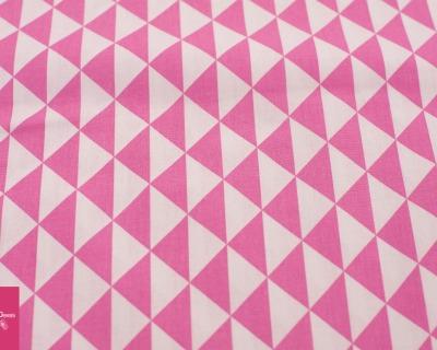 Baumwolle Dreieck weiß-pink