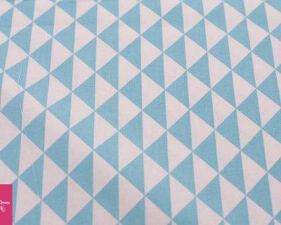 Baumwolle Dreieck weiß-türkis