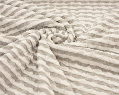SUMMER GOLF Krepp-Jersey grau-weiß
