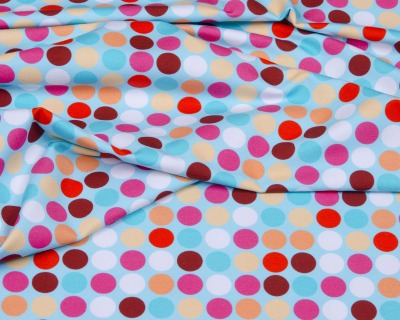 HAPPY Polka Dots türkis Popeline