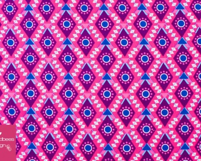 Harvest Blossom Feincord Rauten pink