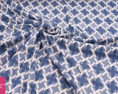Jacquard Jersey Ornamete blau