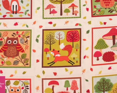 forest friends labels by Timeless Treasures