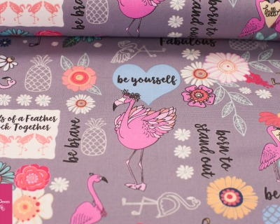 FLAMINGO FEVER grey