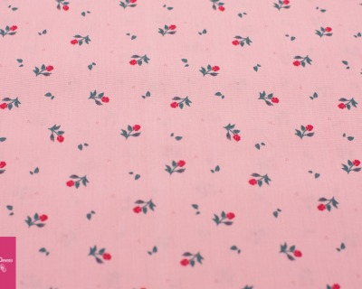 Baumwolle MINI Röschen rosa