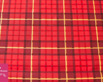 NUTCRACKER nutcracker plaid red by Sarah