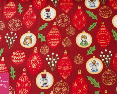 NUTCRACKER ornaments red by Sarah Jane