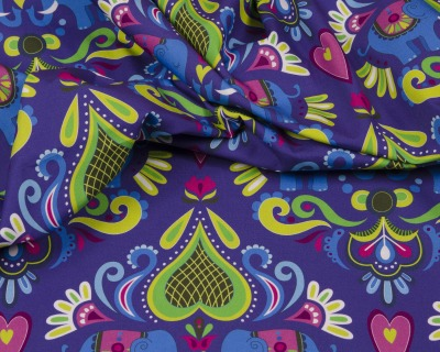 ELEPHANT LOVE Popeline dunkelviolett HHL