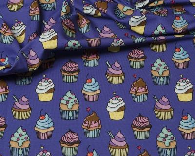 OMG Cupcakes BW-Jersey blauviolett von HHL