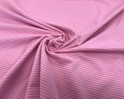 Baumwoll-Jersey Ringel rosa-pink