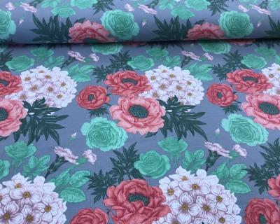 Flowers Baumwoll-Jersey