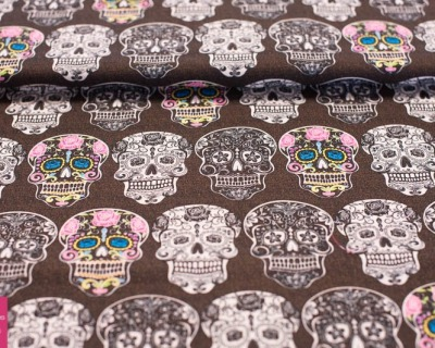 CALAVERTA skulls by David Textiles
