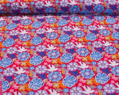 Folk Frieda flowers by David Textiles