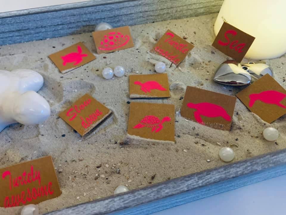 Plottdatei Seaside Turtels Labels 2