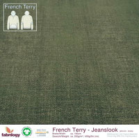 Bio French Terry Jeanslook MoosGreen