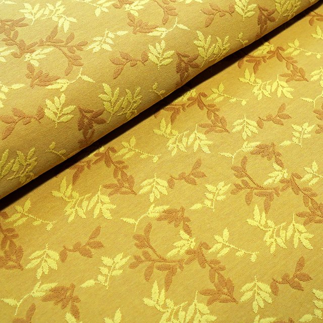 Bio-Relief-Jacquard Shiny Leaves messing