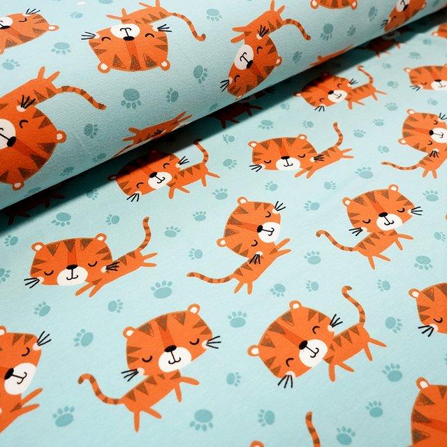 Stoffpaket Tiger Jamie in blau 2