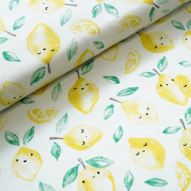 Stoffpaket Zitronen mit Smaragt BioQualität 2