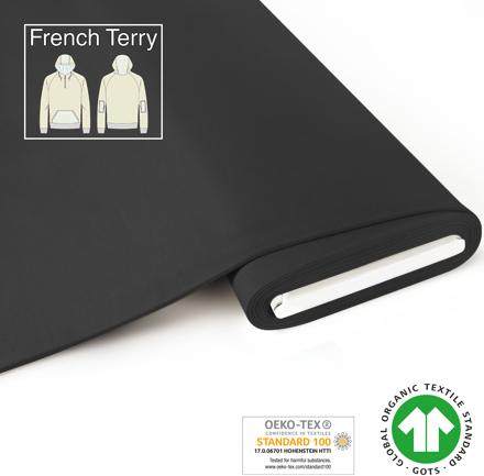 Bio French Terry Dunkelgrau