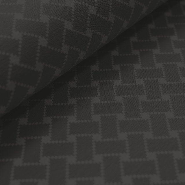 Jacquard Flechtmuster grau -schwarz