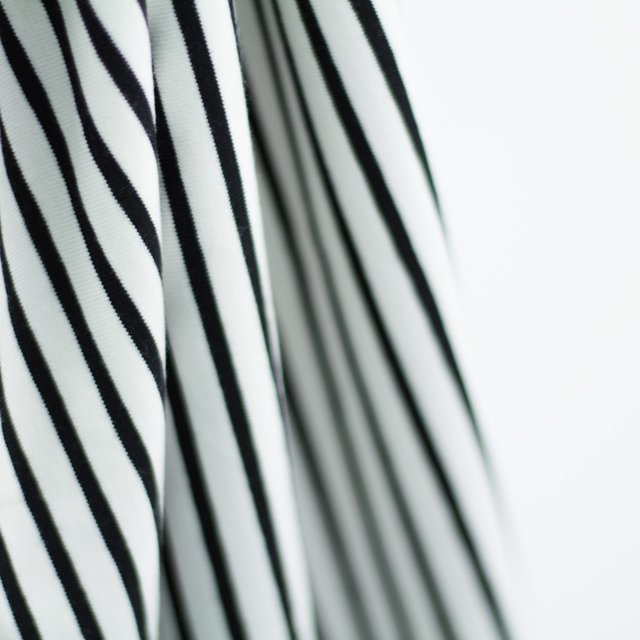 Biojersey Streifen - weiß-schwarz 2
